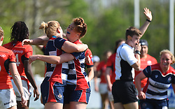 Poppy Cleall of Bristol Ladies celebrates - Mandatory by-line: Paul Knight/JMP - 09/04/2017 - RUGBY - Cleve RFC - Bristol, England - Bristol Ladies v Saracens Women - RFU Women's Premiership Play-off Semi-Final
