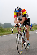 UK, Chelmsford, 28 June 2009: SIMOND LARBEY (V) MILDENHALL.C.C. completed the E9 / 25 course in 1 hour 15 mins 06 secs. Images from the Chelmer Cycle Club's Open Time Trial Event on the E9 / 25 course. Photo by Peter Horrell / http://peterhorrell.com .