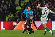 Jens Stage of FC Copenhagen clears his lines during the Europa League match between Celtic and FC Copenhagen at Celtic Park, Glasgow, Scotland on 27 February 2020.