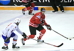 Marius Holtet of Norway and Rick Nash of Canada at play-off round quarterfinals ice-hockey game Norway vs Canada at IIHF WC 2008 in Halifax,  on May 14, 2008 in Metro Center, Halifax, Nova Scotia,Canada. (Photo by Vid Ponikvar / Sportal Images)