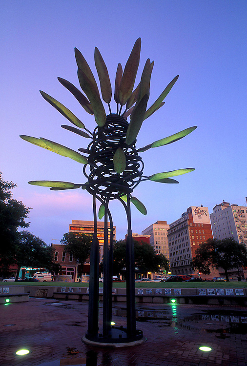 Stock photo of James Surls sculpture, Points of View, downtown Houston Market Square