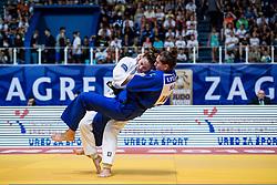 APOTEKAR Klara of Slovenia and VERVERK Marhinde of the Netherlands compete on July 28, 2019 at the IJF World Tour, Zagreb Grand Prix 2019, in Dom Sportova, Zagreb, Croatia. Photo by SPS / Sportida