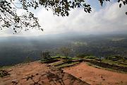 Rock palace fortress on rock summit, Sigiriya, Central Province, Sri Lanka, Asia
