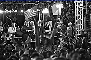 The 2008 Democratic National Convention was held in Denver, Colorado, from August 25 to August 28, 2008, at the Pepsi Center. U.S. Senator Barack Obama of Illinois, the nominee for President, gave his acceptance speech on August 28 at INVESCO Field in a speech at before a record-setting crowd of 84,000 people in attendance, and 38 million watching on television.<br /> <br /> Obama officially received the nomination for President on August 27, when his former opponent Hillary Rodham Clinton interrupted the official roll call to move that Obama be selected by acclamation.[3] U.S. Senator Joe Biden of Delaware accepted the nomination for Vice President on the same night.