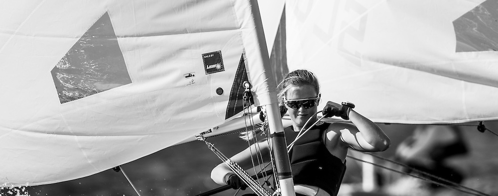 The 2015 Laser Women's Radial World Championship. Mussanah. Oman. November 18-26 November. Day 2 of racing Image licensed to Lloyd Images