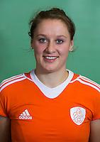 DELFT - Lieke van Wijk. Nederlands zaalhockeyteam dames voor EK in Minsk. COPYRIGHT KOEN SUYK