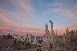 """Sunset at Mono Lake 4"" - These tufas were photographed at the South Tufa area in Mono Lake, California."
