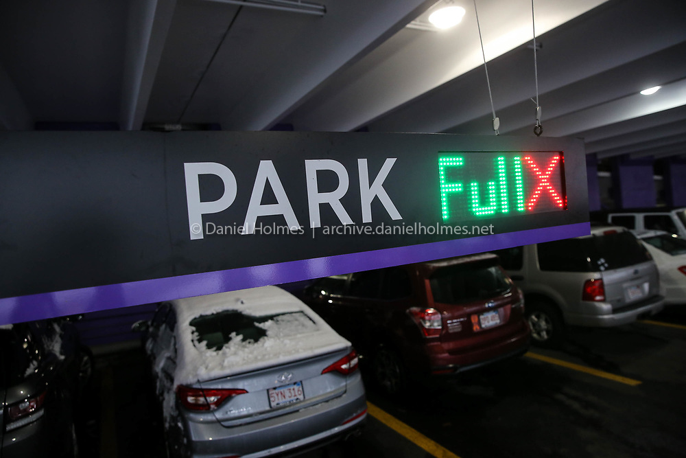 (12/9/17, NATICK, MA) Electronic signs direct motorists to open spaces, or lack of, at The Natick Mall in Natick on Saturday. [Daily News and Wicked Local Photo/Dan Holmes]