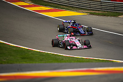 August 24, 2018 - Spa Francorchamps, Belgique - Perez N°11 Racing Point Force india/Hertley N°28 Toro Rosso (Credit Image: © Panoramic via ZUMA Press)