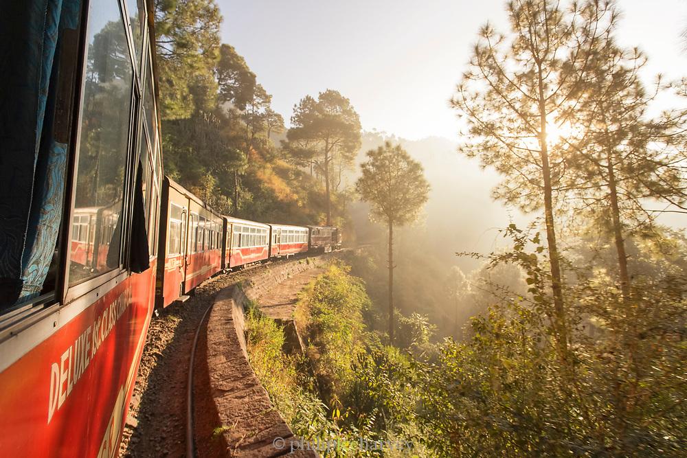 Kalka–Shimla Railway in forest in India