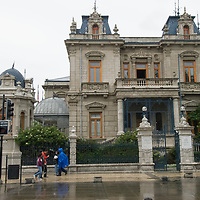 The Union Club, a famous meeting place by Plaza Muñoz Gamero in Punta Arenas, Chile.