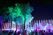 Nederland, Beuningen, Ewijk, 29-6-2018 Down the Rabbit Hole . Vandaag begon het driedaagse festival bij Nijmegen. De vernieuwde toegangspoort, kunstwerk, installatie .Foto: Flip Franssen
