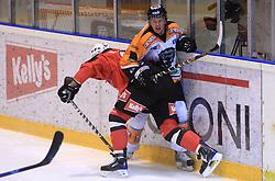 Tomo Hafner and Jamie Mattie at Erste Bank Eishockey Liga (EBEL) 2008/2009 match between HK Acroni Jesenice and Eishockeyclub Graz 99ers, on January 9, 2009, in Dvorana Podmezaklja, Jesenice, Slovenia. (Photo by Vid Ponikvar / SportIda).