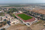 A general view of the McFarland High School campus and track, Saturday, Oct. 31, 2020, in McFarland, Calif.