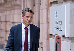 © Licensed to London News Pictures. 18/08/2020. London, UK. Secretary of state for Education GAVIN WILLIAMSON is seen arriving at The Department for Education in Westminster, the morning after announcing a u-turn on policy for grading A Level exam results. Photo credit: Ben Cawthra/LNP