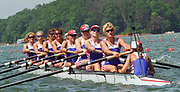 Lake Lanier, Atlanta, USA, 1996 Summers Olympic games, GBR Women's Eight GBR W8+, moves away from the start . Mandatory Credit Intersport Images.