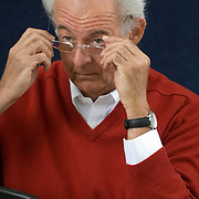 EDINBURGH, SCOTLAND - AUGUST26. French philosopher Roger- Pol Droit  poses during a portrait session held at Edinburgh Book Festival on August 26, 2006  in Edinburgh, Scotland. (Photo by Marco Secchi/Getty Images).