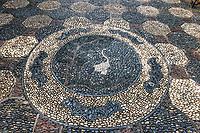 crane stone mosaic Kowloon Walled City Park in Hong Kong