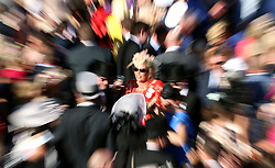 Racegoers around the bandstand during day three of Royal Ascot at Ascot Racecourse.