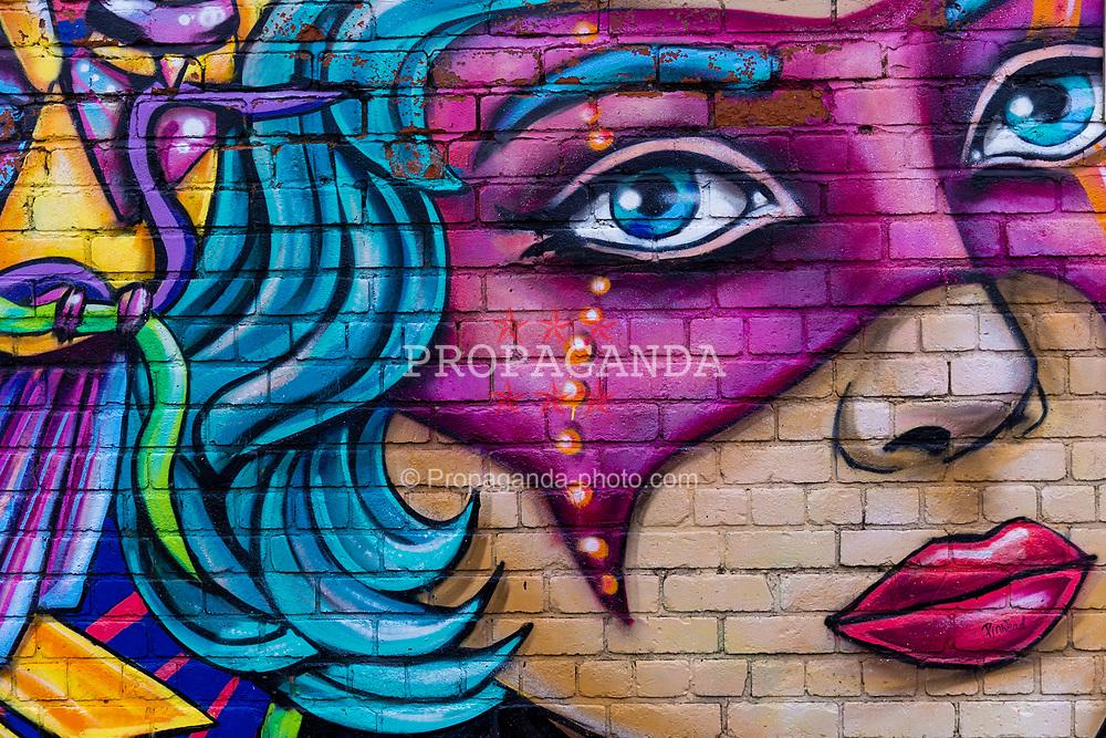 LIVERPOOL, ENGLAND - Saturday, November 28, 2020: Street art mural in the Baltic Triangle, Liverpool. (Pic by David Rawcliffe/Propaganda)