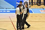 DESCRIZIONE : Supercoppa 2015 Semifinale Olimpia EA7 Emporio Armani Milano - Umana Reyer Venezia<br /> GIOCATORE : Enrico Sabetta Emanuele Aronne Di Francesco<br /> CATEGORIA : Arbitro Referee<br /> SQUADRA : AIAP<br /> EVENTO : Supercoppa 2015<br /> GARA : Olimpia EA7 Emporio Armani Milano - Umana Reyer Venezia<br /> DATA : 26/09/2015<br /> SPORT : Pallacanestro <br /> AUTORE : Agenzia Ciamillo-Castoria/GiulioCiamillo