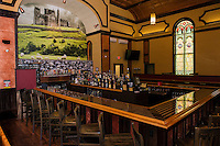 The bar at the Holy Grail of the Lakes.  (Karen Bobotas/for the Laconia Daily Sun)
