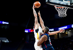 Daniel Theis of Germany vs Boris Diaw of France during basketball match between National Teams of Germany and France at Day 10 in Round of 16 of the FIBA EuroBasket 2017 at Sinan Erdem Dome in Istanbul, Turkey on September 9, 2017. Photo by Vid Ponikvar / Sportida