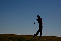 04.10.2012, Old Course, St. Andrews, SCO, European Golf Tour, Alfred Dunhill Links Championship, im Bild A silhouette of a golfer // during the European Golf Tour, Alfred Dunhill Links Championship at the Old Course, St. Andrews, Scotland on 2012/10/04. EXPA Pictures © 2012, PhotoCredit: EXPA/ Mitchell Gunn