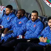 Trabzonspor's players during their Turkish superleague soccer derby Fenerbahce between Trabzonspor at the Sukru Saracaoglu stadium in Istanbul Turkey on Saturday 07 February 2015. Photo by Aykut AKICI/TURKPIX