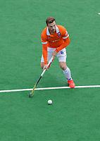 BLOEMENDAAL  -  Roel Bovendeert (Bldaal)  tijdens de oefenwedstrijd Bloemendaal-Den Bosch (m) .  COPYRIGHT KOEN SUYK