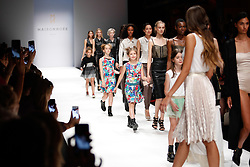 July 3, 2018 - Berlin, Germany - Models present a Spring/Summer 2019 Maisonnoee collection of during the first day of MBFW Berlin Fashion Weak in the ewerk showspace in Berlin, Germany on July 3, 2018. (Credit Image: © Dominika Zarzycka/NurPhoto via ZUMA Press)