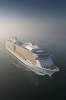 Royal Caribbean's newest and most technologically advanced ship Anthem of the Seas arrives in Southampton where she will be named on Tuesday. In addition to being served drinks by robot bartenders, guests will be able to drive dodgems, learn circus skills, dine in the 18 onboard restaurants and enjoy spectacular ocean views from 300ft above the sea in the North Star viewing pod.
