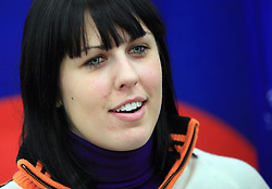 Katja Jazbec at press conference of Slovenian men and women alpine skiing national team before new season 2008/2009 in Hervis, City park, BTC, Ljubljana, Slovenia, on October 20, 2008.  (Photo by: Vid Ponikvar / Sportal Images).