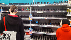 © Licensed to London News Pictures. 07/03/2020. London, UK. Morrisons store in London runs out of hand wash amid an increased number of cases of Coronavirus (COVID-19) in the UK. Forty two more people have tested positive of the virus, taking the total to 206 in the UK. Photo credit: Dinendra Haria/LNP