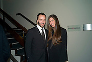 TOM FORD; ELIZABETH SALTZMAN,30 Years Of i-D - book launch. Q Book 5-8 Lower John Street, London . 4 November 2010. -DO NOT ARCHIVE-© Copyright Photograph by Dafydd Jones. 248 Clapham Rd. London SW9 0PZ. Tel 0207 820 0771. www.dafjones.com.
