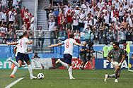 Harry Kane of England celebrates after scoring his penalty kick during the 2018 FIFA World Cup Russia, Group G football match between England and Panama on June 24, 2018 at Nizhny Novgorod Stadium in Nizhny Novgorod, Russia - Photo Thiago Bernardes / FramePhoto / ProSportsImages / DPPI