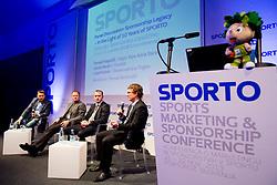 Tomaz Ambrozic, Tomaz Krajncic, Goran Medic and Luka Pusnik at sports marketing and sponsorship conference Sporto 2013, on November 21, 2013 in Hotel Slovenija, Congress centre, Portoroz / Portorose, Slovenia. Photo by Vid Ponikvar / Sportida