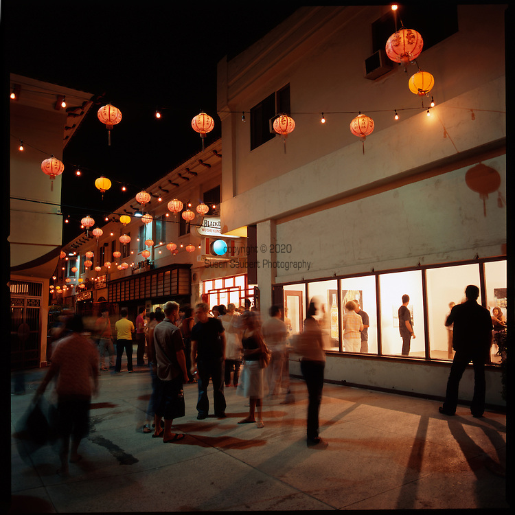 Chung King Road, a pedestrian street in the northeast corner of Chinatown, has become a center for downtown Los Angeles galleries and a thriving art scene.