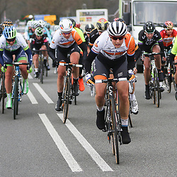 HOOGEVEEN cycling: The first manche of the UCI womens worldcup the Boels Rental ronde van Drenthe<br />Lucinda Brand