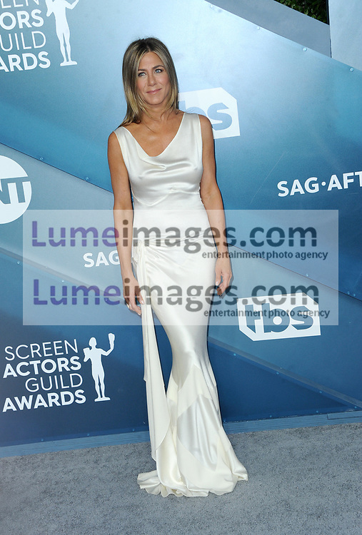 Jennifer Aniston at the 26th Annual Screen Actors Guild Awards held at the Shrine Auditorium in Los Angeles, USA on January 19, 2020.