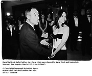 David Geffen & Sally Field at  the  Oscar Night party hosted by Steve Tisch and Vanity Fair. Morton's. Los Angeles. March 1995. 955440/5<br />© Copyright Photograph by Dafydd Jones<br />66 Stockwell Park Rd. London SW9 0DA<br />Tel 0171 733 0108