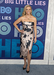 May 29, 2019 - New York, New York, United States - Reese Witherspoon wearing dress by Elie Saab attends HBO Big Little Lies Season 2 Premiere at Jazz at Lincoln Center  (Credit Image: © Lev Radin/Pacific Press via ZUMA Wire)