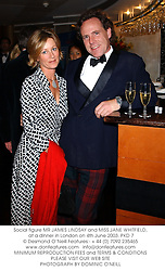 Social figure MR JAMES LINDSAY and MISS JANE WHITFIELD, at a dinner in London on 4th June 2003.PKD 7