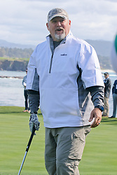 """Feb 6, 2019 Pebble Beach, Ca. USA TV, Film and singing stars that included LARRY THE CABLE GUY whom played in the """"3M Celebrity Challenge"""" to try for part of the 100K purse to go to their favorite charity and win the Estwood-Murray cup, for which team Clint Eastwwod's group won.. The event took place during practice day of the PGA AT&T National Pro-Am golf on the Pebble Beach Golf Links. Photo by Dane Andrew c. 2019 contact: 408 744-9017  TenPressMedia@gmail.com"""