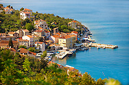 Valun fishing village, Cres Island, Croatia .<br /> <br /> Visit our CROATIA HISTORIC SITES PHOTO COLLECTIONS for more photos to download or buy as wall art prints https://funkystock.photoshelter.com/gallery-collection/Pictures-Images-of-Croatia-Photos-of-Croatian-Historic-Landmark-Sites/C0000cY_V8uDo_ls