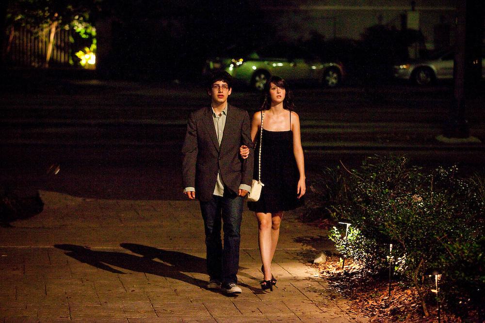 "Matt Bennett and Nicole Weaver in Columbia Pictures' comedy ""The Virginity Hit."""