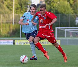 Kasper Enghardt (FC Helsingør) under træningskampen mellem FC Helsingør og IS Halmia (Sverige) den 24. juli 2012 på Helsingør Stadion (Foto: Claus Birch).