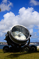 old military searchlight salvador of bahia in brazil