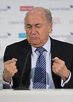 Fotball<br /> Foto: imago/Digitalsport<br /> NORWAY ONLY<br /> <br /> Luzern, 27.03.2015, Fussball, Medienkonferenz Frauen Nationalmannschaft Schweiz, FIFA Praesident Josef Sepp Blatter