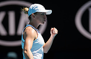 Simona Halep of Romania in action during her quarter final match at the 2020 Australian Open, WTA Grand Slam tennis tournament on January 29, 2020 at Melbourne Park in Melbourne, Australia - Photo Rob Prange / Spain ProSportsImages / DPPI / ProSportsImages / DPPI
